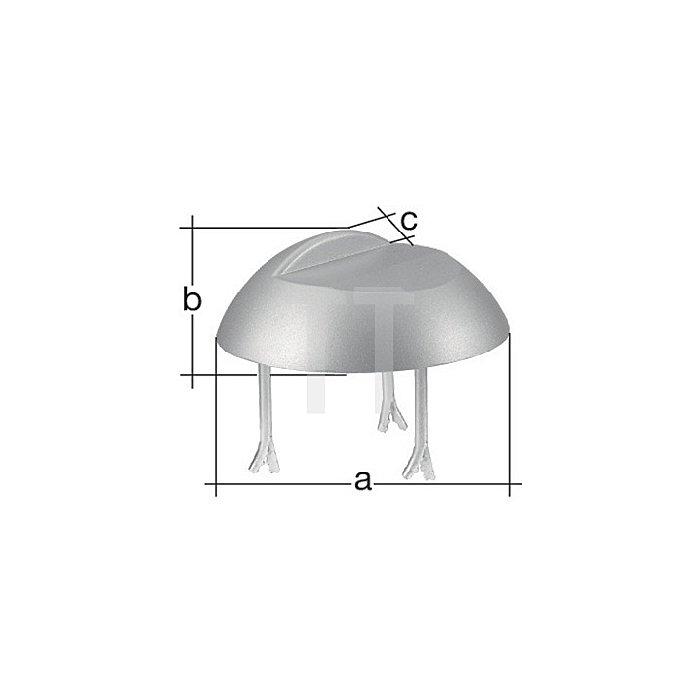 Auflaufstütze Ø200x30x20mm Aluminiumguss z. Einbetonieren GAH