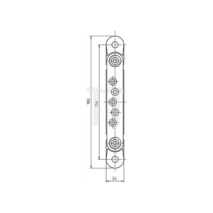 Aufnahmeelement VX 7501 Seite/Höhe/Andruck +/-3mm verstellbar verz.