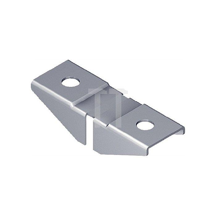 Aufsteckhalter 11612 für Träger 10105/10102 Edelstahl rostfrei 10 Stück/SB Karte