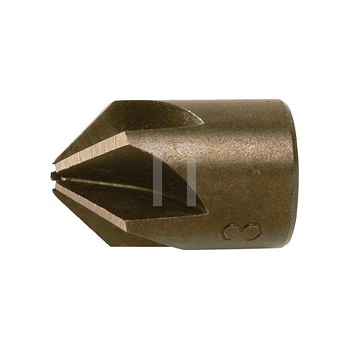 Aufsteckversenker WS Bohrungs-D.6mm Senk-D.16mm FAMAG 5schneidig