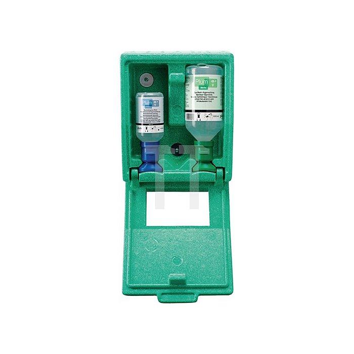 Augennotfallstation 1x200ml 1x0,5l B.227xH.265xT.110mm PLUM integr.Spiegel