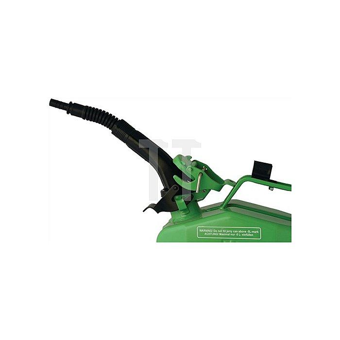 Ausgusstutzen flexibel 250mm, m. Entlüftungsloch, m. Halterung, f. 5-, 10- u. 20