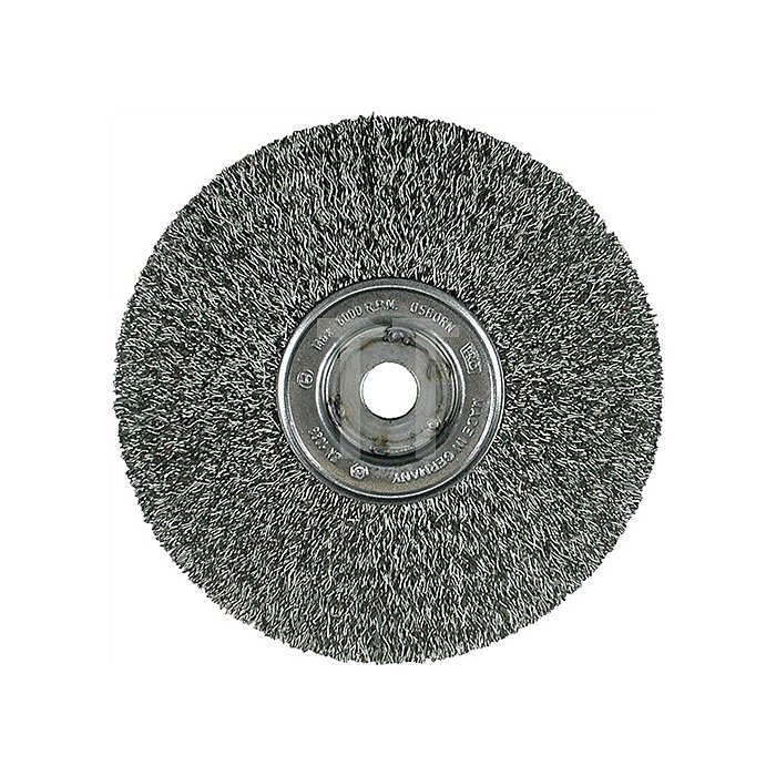 Bandsägebürste Stahl D.100x13mm Bohrung 13mm Drahtstärke 0,30mm Osborn