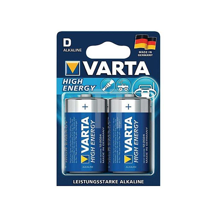 Batterie Alkaline Kapaz. 16500 mAh Äquivalenz D-AM1-Mono 1,5V High Energy