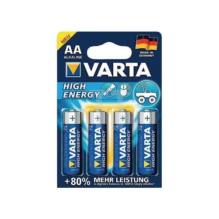 Batterie Alkaline Kapaz. 2600 mAh Äquivalenz AA-AM3-Mignon 1,5V High Energy