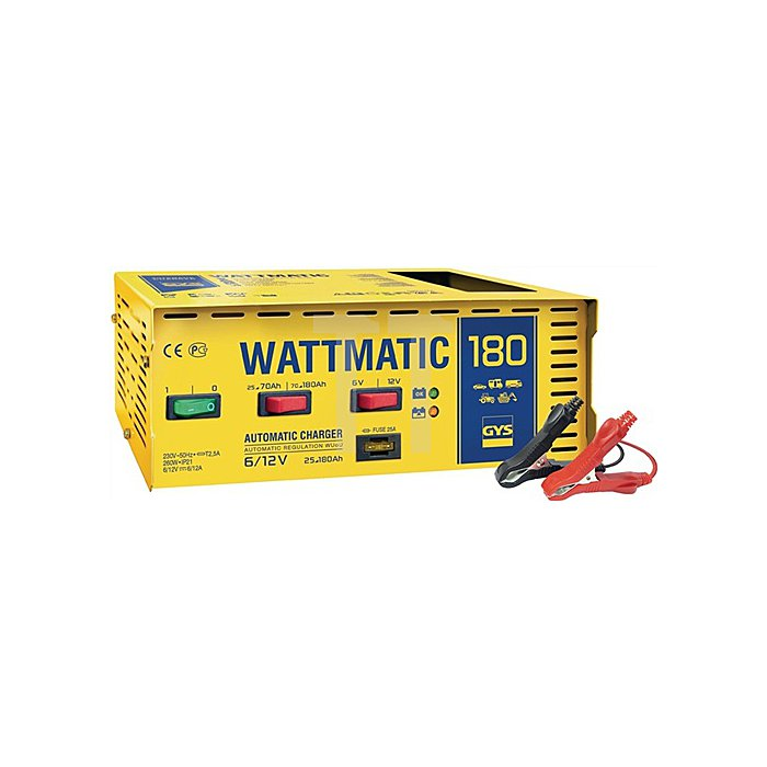 Batterieladegerät WATTMATIK 180 6/12V 25-180Ah / Ladestrom 18/6-12A / max.260W/