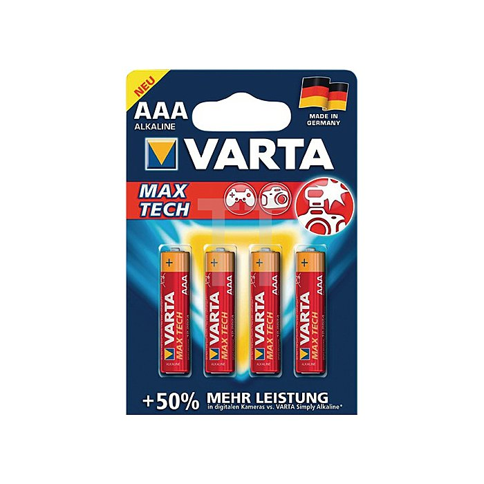 Batterien Kapaz. 1200 mAh Äquivalenz AAA-AM4-Micro Spannung 1,5V Max Tech 4703