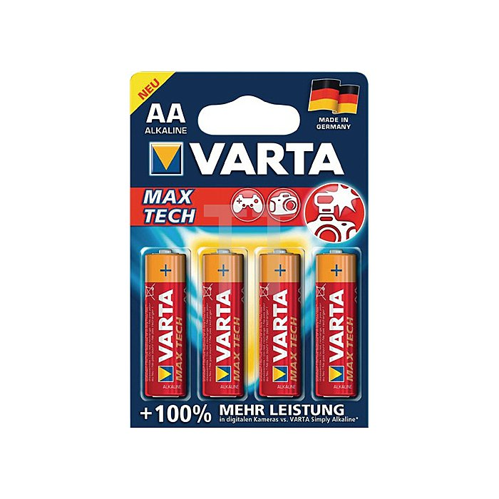 Batterien Kapaz. 2600 mAh Äquivalenz AA-AM3-Mignon Spannung 1,5V Max Tech 4706