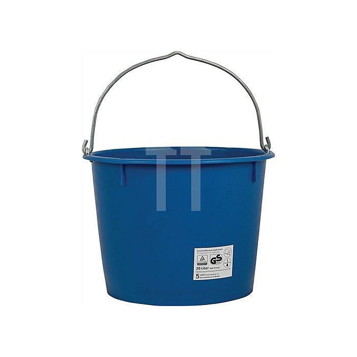 Baueimer Inhalt 20l schwer kranbar blau