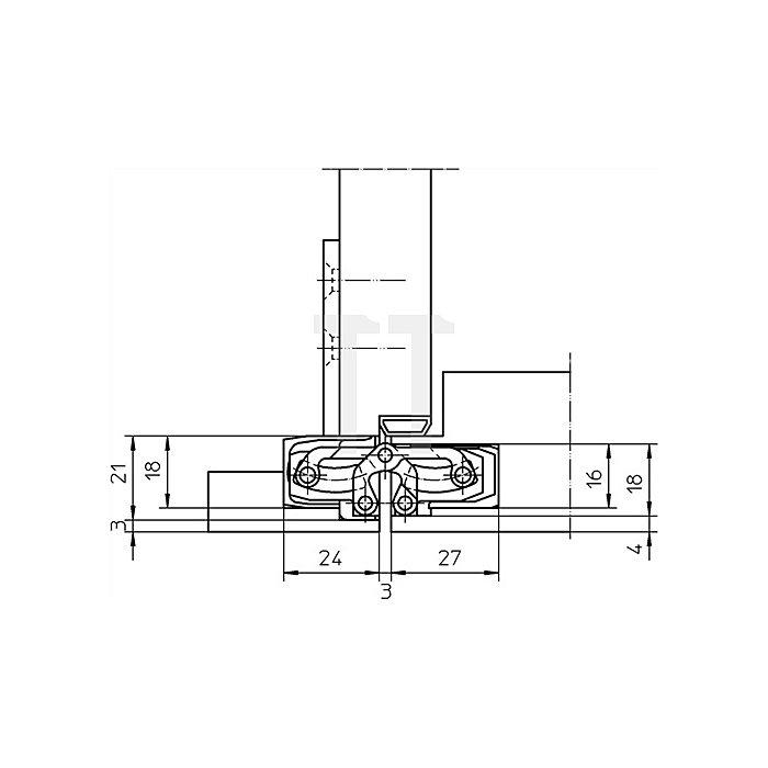 Befestigungsplatte TE 240 3D FZ für Futterzargen verzinkt