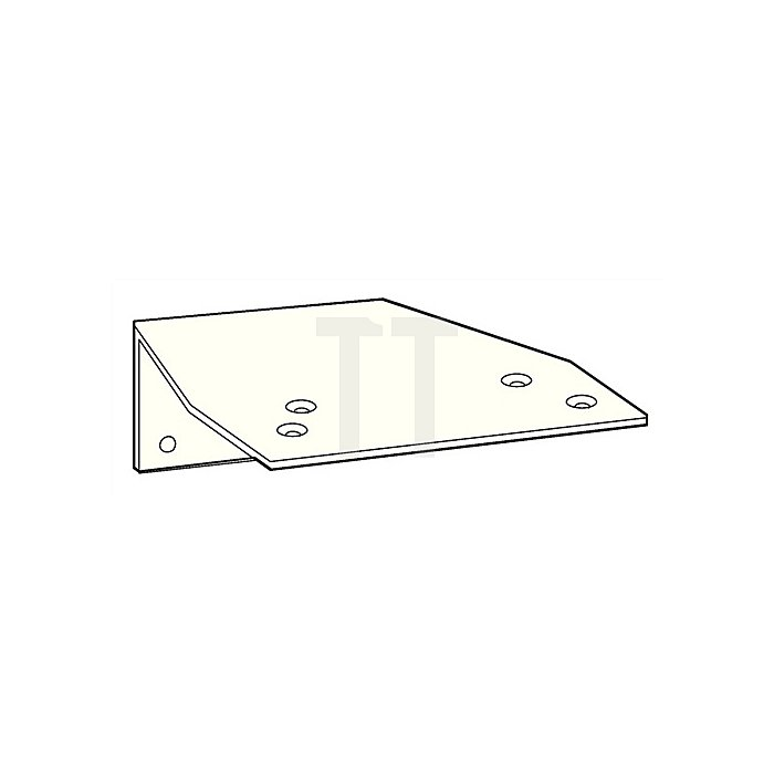 Befestigungswinkel zu TS 73 V/TS 83 weiss (RAL 9016) f.Parallelarmmontage