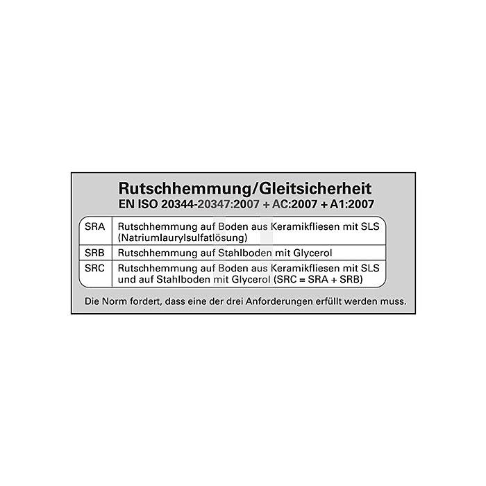 Berufsschuhe EN 20347:2012 OB Clog Gr.43 weiss Leder m.Fersenriemen Abeba
