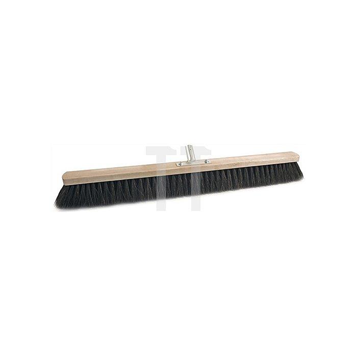Besen Arenga L.800mm voll besteckt Metallstielhalter Flachholz