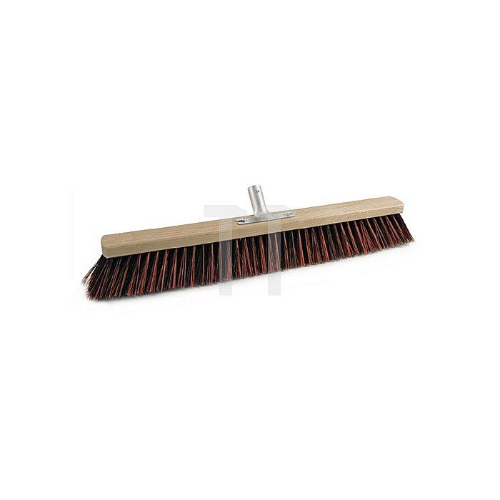 Besen Arenga/Elaston L.600mm 5Reihen m.Metallstielhalter Flachholz