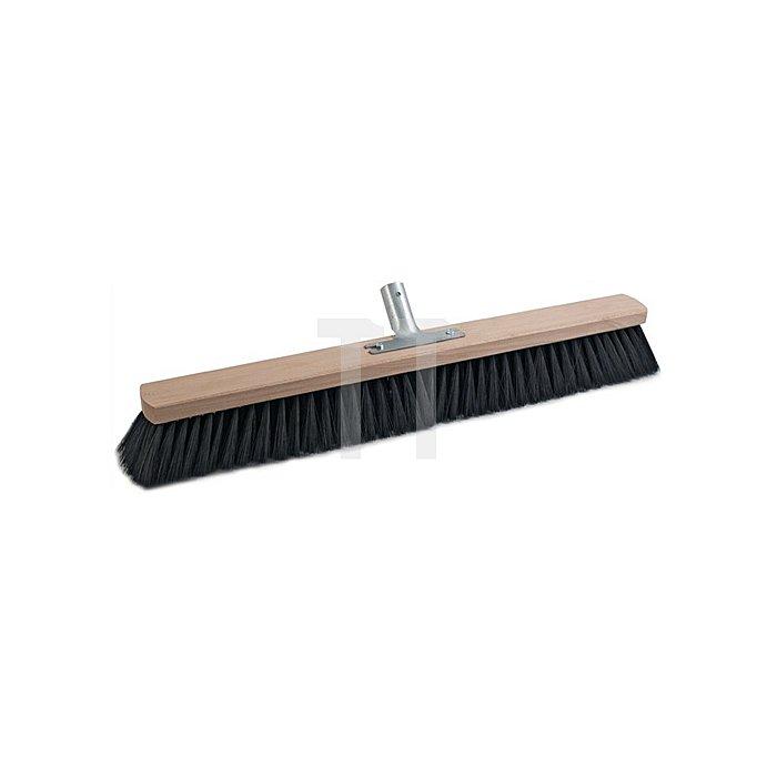 Besen Qualitätsmischung PVC L.600mm mit Metallstielhalter Flachholz