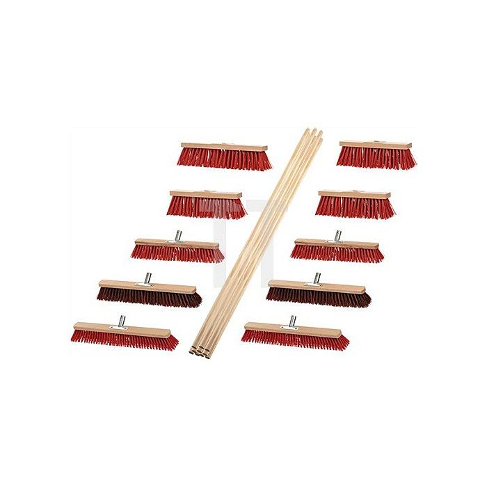 Besen-Set 8 Besen Elaston 2 Elaston/Arenga mit 10 Stielen 1400mm