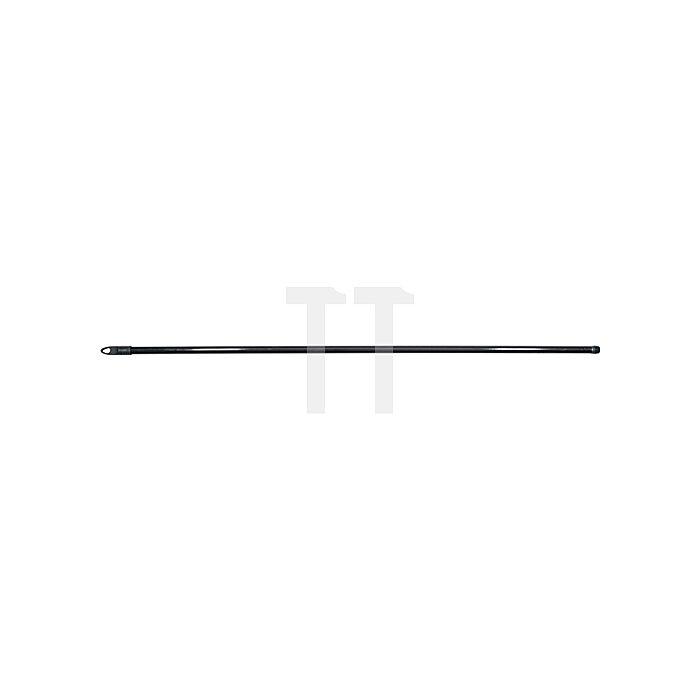 Besenstiel L.1300xD.24mm Metall schwarz ku.-ummantelt m.Gewinde