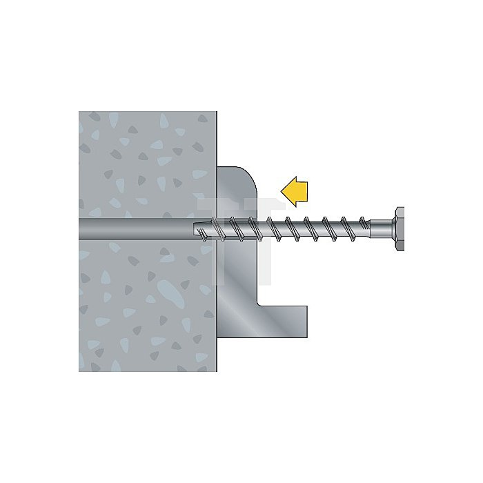Betonschraube TSM B 10-120 SW 13 galv. verz. ETA-Zulassung Option 1 apolo MEA