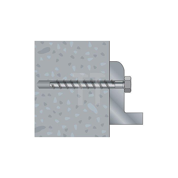 Betonschraube TSM B 10-170 SW 13 galv. verz. ETA-Zulassung Option 1 apolo MEA