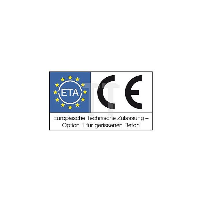 Betonschraube TSM B 8-80 SW 13 galv. verz. ETA-Zulassung Option 1 apolo MEA