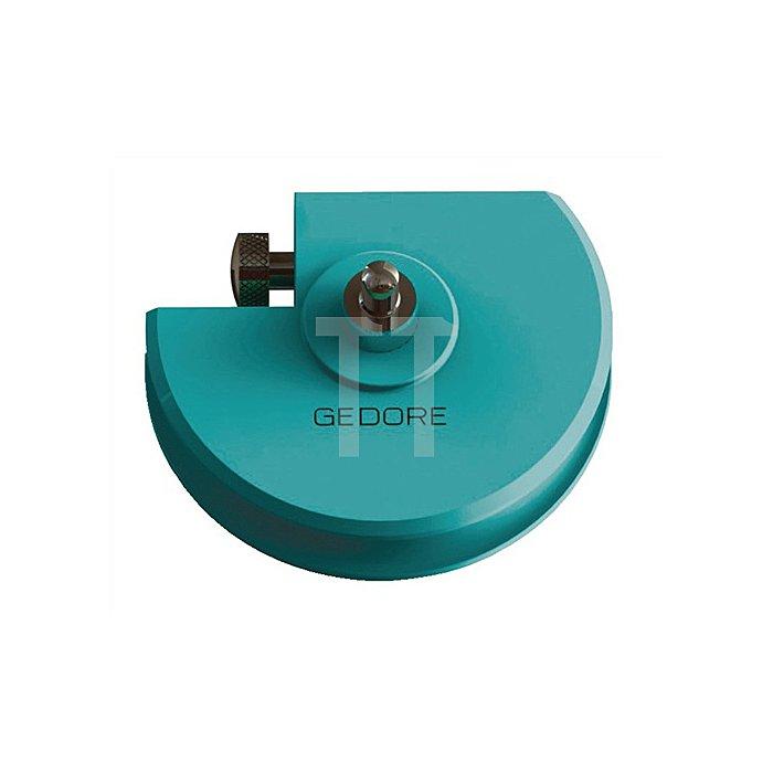Biegesegment blau einbrennlackiert D.15mm r=45mm b.180Grad