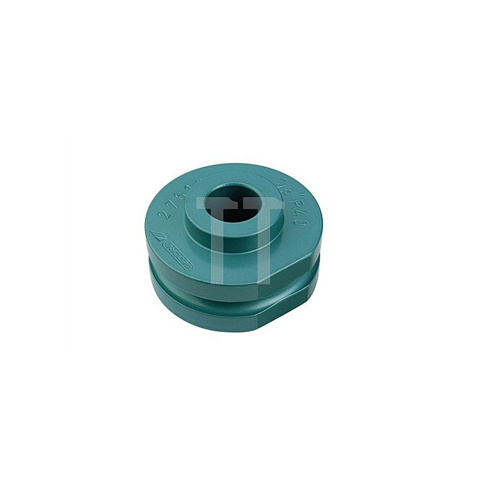 Biegesegment f.Gas- u.Wasserrohre 1/4Zoll blau einbrennlackiert r=40mm b.180Grad