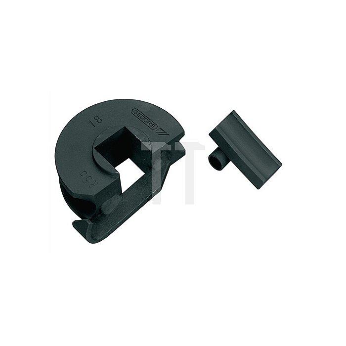 Biegesegment f.Rohre 15mm m.Gleitschiene r=55mm, bis 180Grad