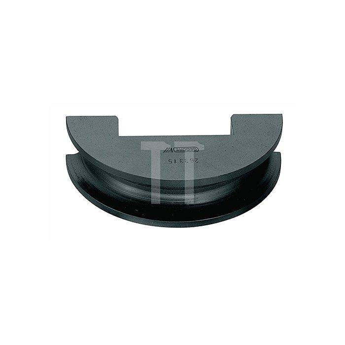 Biegesegment f.Rohre 38mm a.Stahl, phoshatiert r=150mm, bis 180Grad