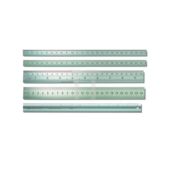 BMI Biegsamer Stahlmaßstab , rostfrei 500mm 963050030