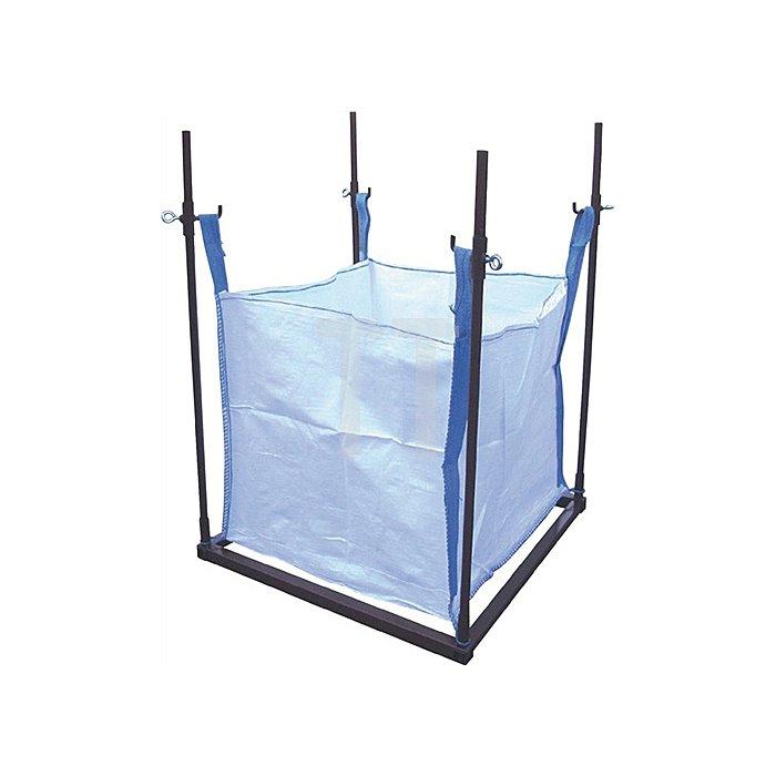 Big Bag Halter, braun lackiert, L x B x H: 1,01 x 1,01 x 1,40 m, Gewicht: 18 kg