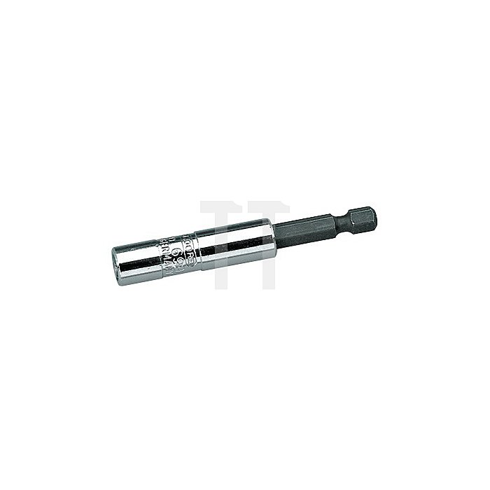 Bit-Halter 1/4Zoll 6KT Chrom Stift brün.