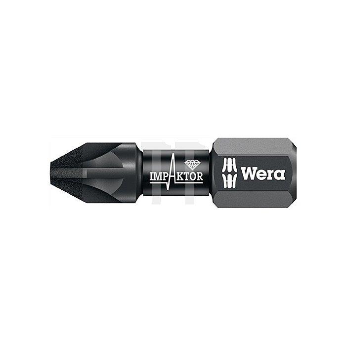 Bit Impaktor PZD2 L.25mm 6KT 1/4Zoll diamantbeschichtet 855/1 IMPDC DIN3126-D6,3