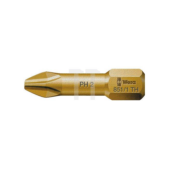 Bit PH Gr.2 L.25mm 851/1TH extrahart WERA Antrieb C6,3