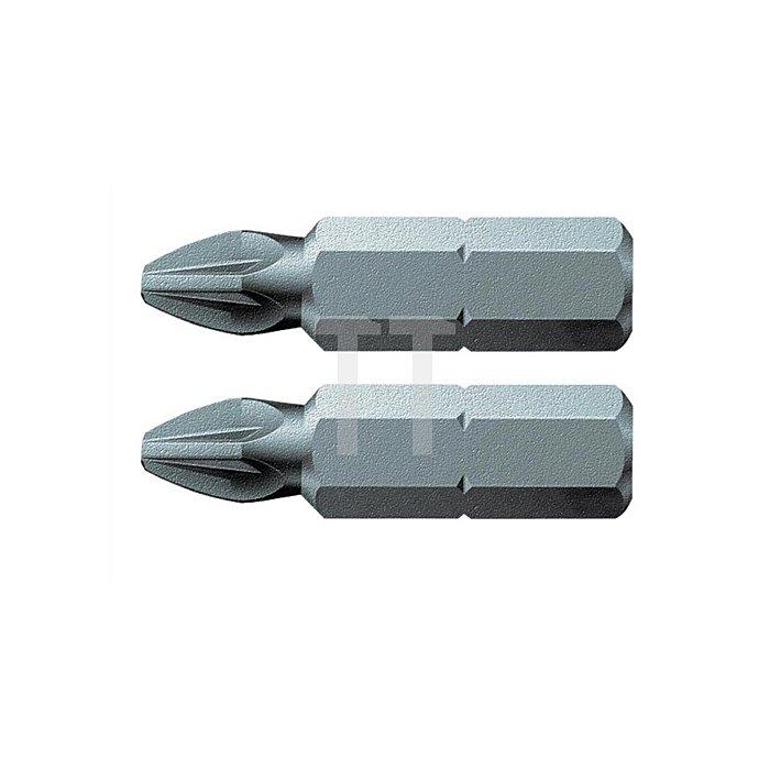Bit PZD Gr.3 L.25mm 1/4 Zoll 6KT C6,3 zähh. Karte m. 2 St. 855/1 Z SB