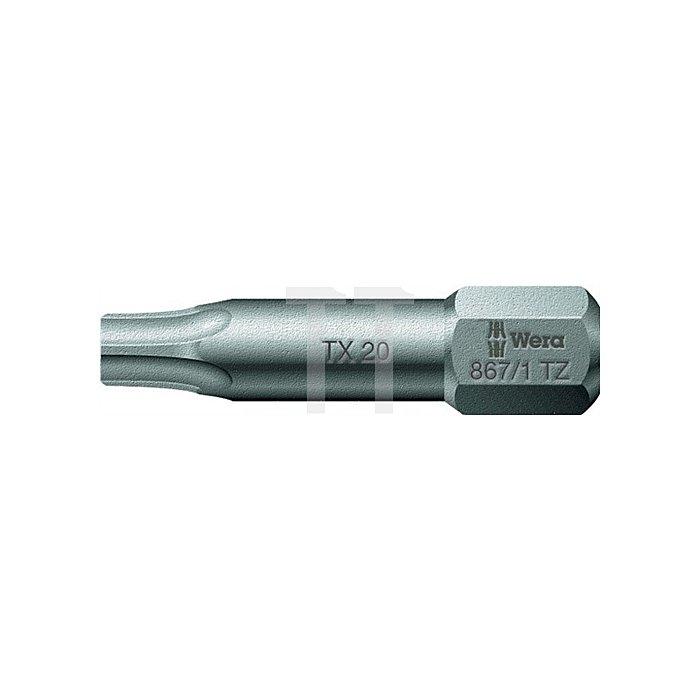 Bit T25 L.25mm 867/1TZ zähhart WERA Antrieb C6,3