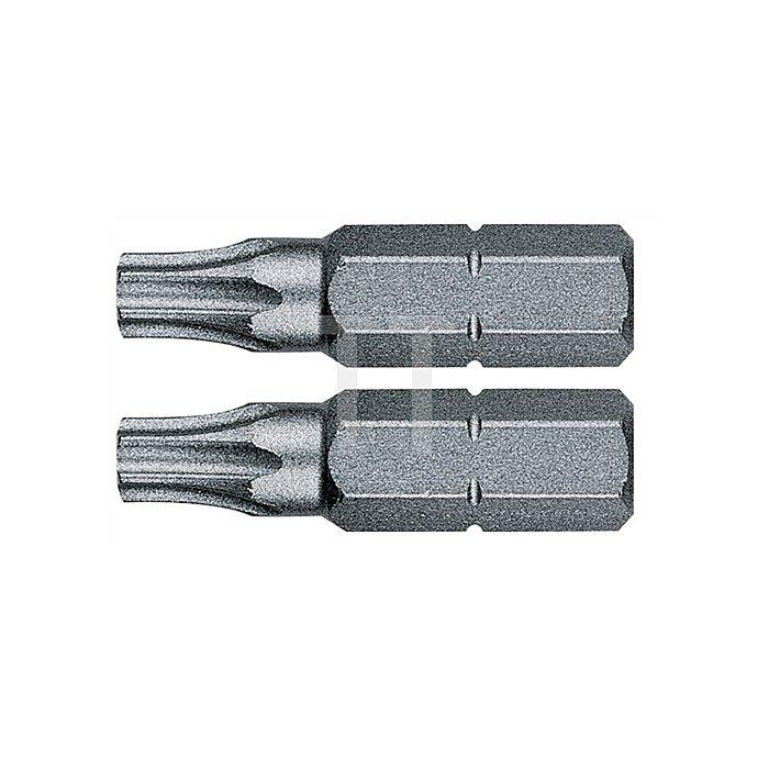 Bit TORX 40 L.25mm 1/4 Zoll 6KT C6,3 zähh. Karte m. 2 St. 867/1 Z SB