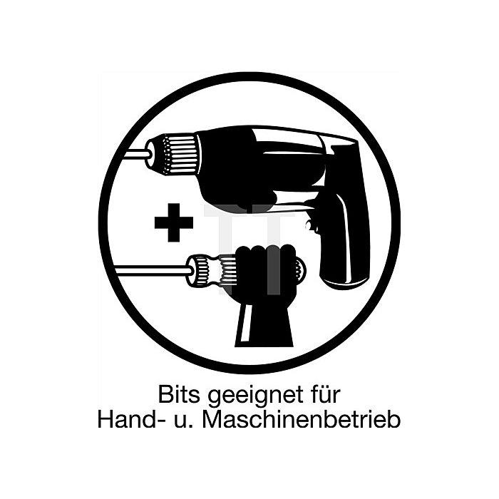Bitbox 7 tlg. Schlitz/PH/PZD Bithalter m. Magnet Abtrieb C6,3
