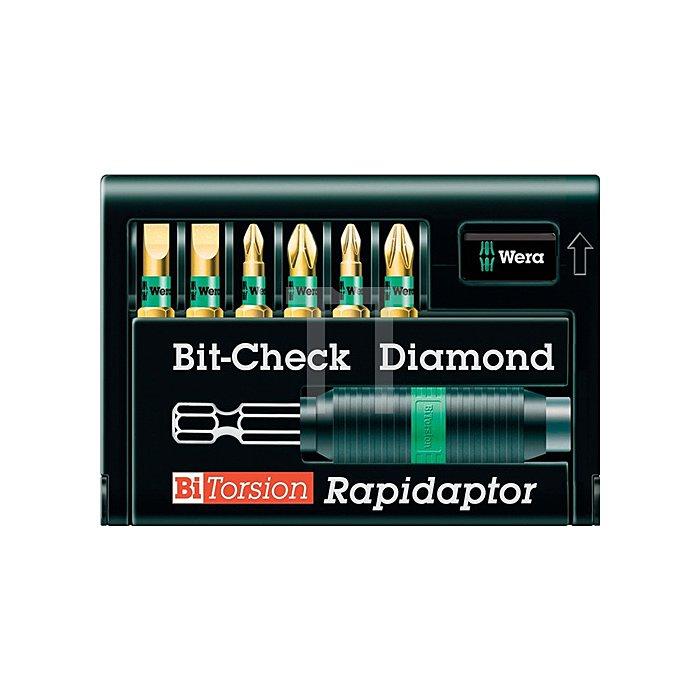 Bitsortiment 7tlg. 8700-6/BDC Schl./PH/PZD WERA BithalterC/E6,3