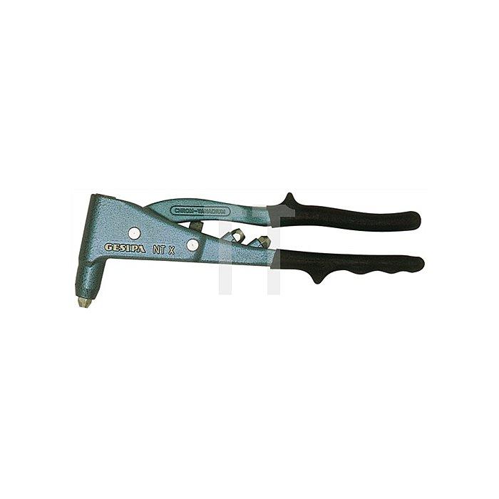 Blindniet-Handzange L.260mm Arbeitsbereich 2,4-5mm NTX ohne Feder Gesipa