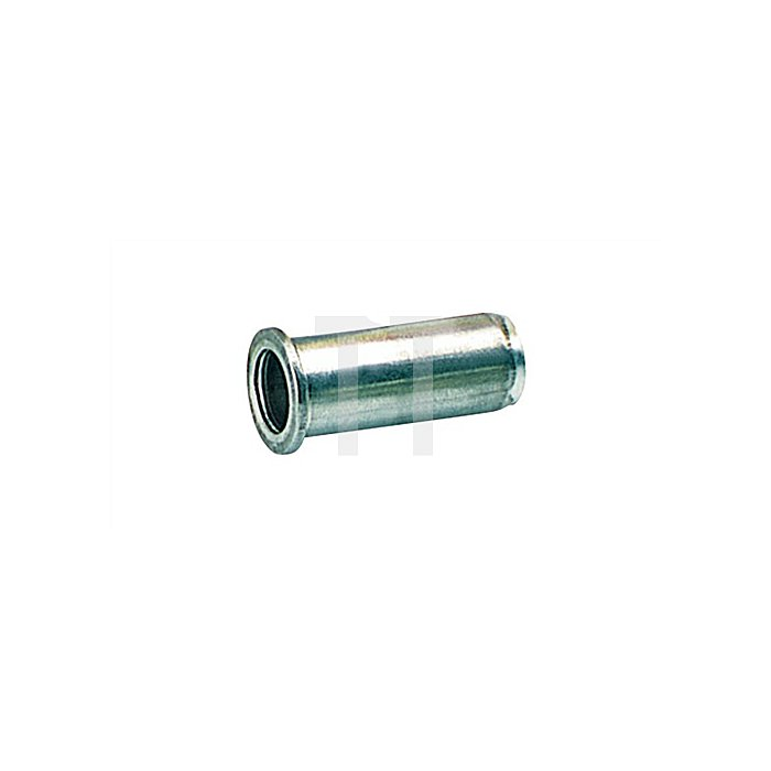 Blindnietmutter Alu. M6 9x15,5mm dxl f.0,25-3,5mm GESIPA Flachrundkopf