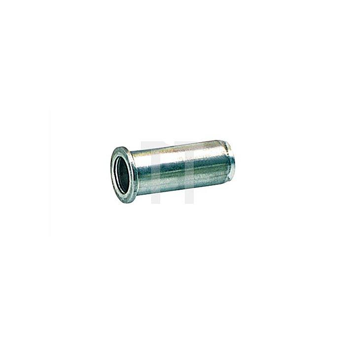 Blindnietmutter Stahl M6 9x15,5mm dxl f.0,25-3,5mm GESIPA Flachrundkopf