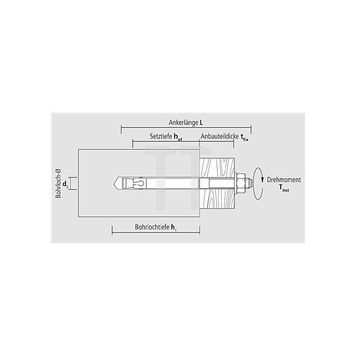 Blitzanker BAZ M12-103/5 A4 nicht rostender Stahl A4 ETA-Zulassung Option 1