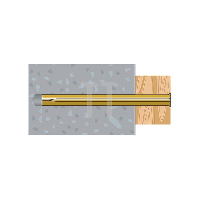 Blitznagel BN 8-130 galv. gelb verz. VE: 50 Stk. / 20 VE = 1 Umkarton apolo MEA