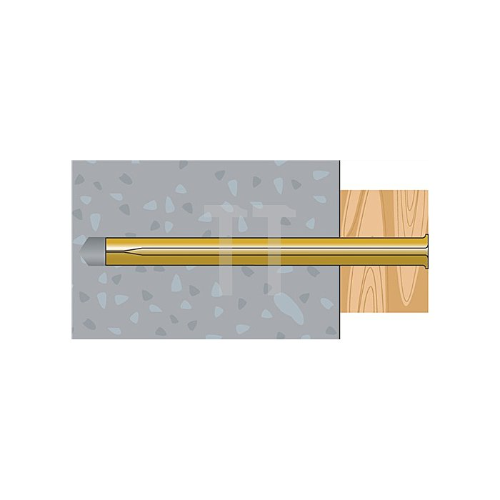 Blitznagel BN 8-70 galv. gelb verz. VE: 50 Stk. / 20 VE = 1 Umkarton apolo MEA
