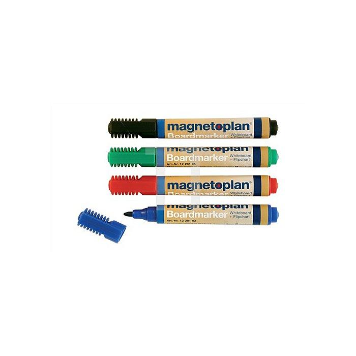Boardmarker-Set 4farbig abwischbar blau/grün/rot/schwarz