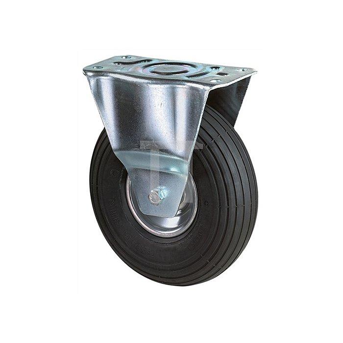 Bockrolle Duchmesser 400mm Tragfähigkeit 250kg Luft-Rad Platte 150x150mm