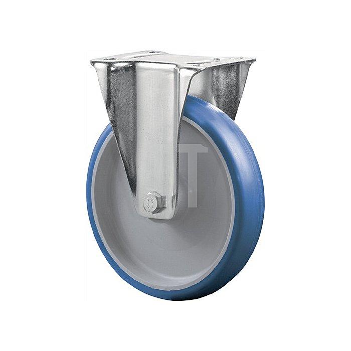 Bockrolle Durchmesser 100mm Tragfähigkeit 125kg Polyurethanrad Platte 104x80mm