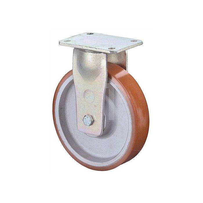 Bockrolle RR110.C10.202 D.200mm Trgf.1400kg Platte 200x160mm Rad Alu./Guss-PUR95