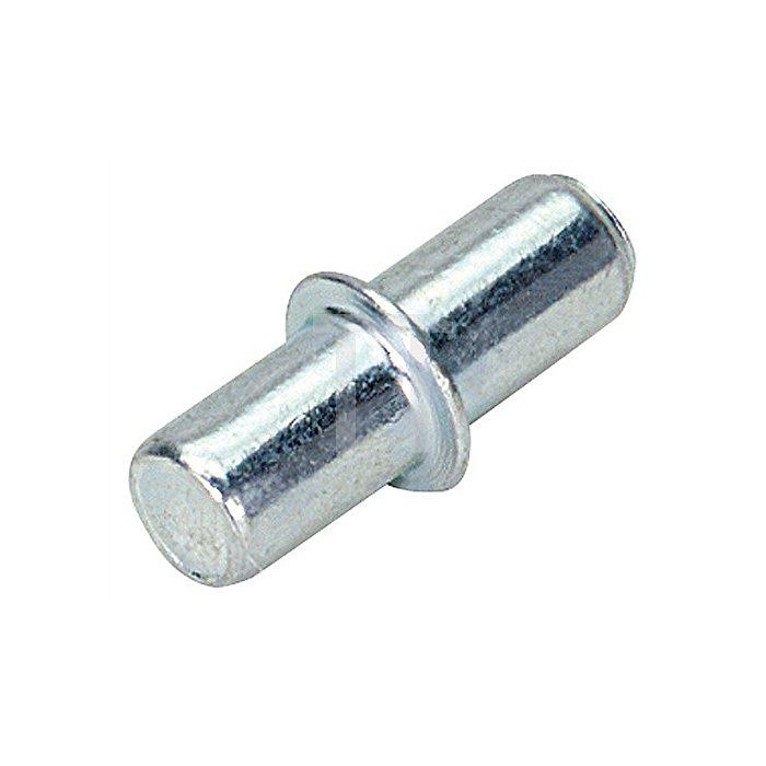 Bodenträger Duplo / 013138 für 5mm Lochreihe Stahl chromatiert