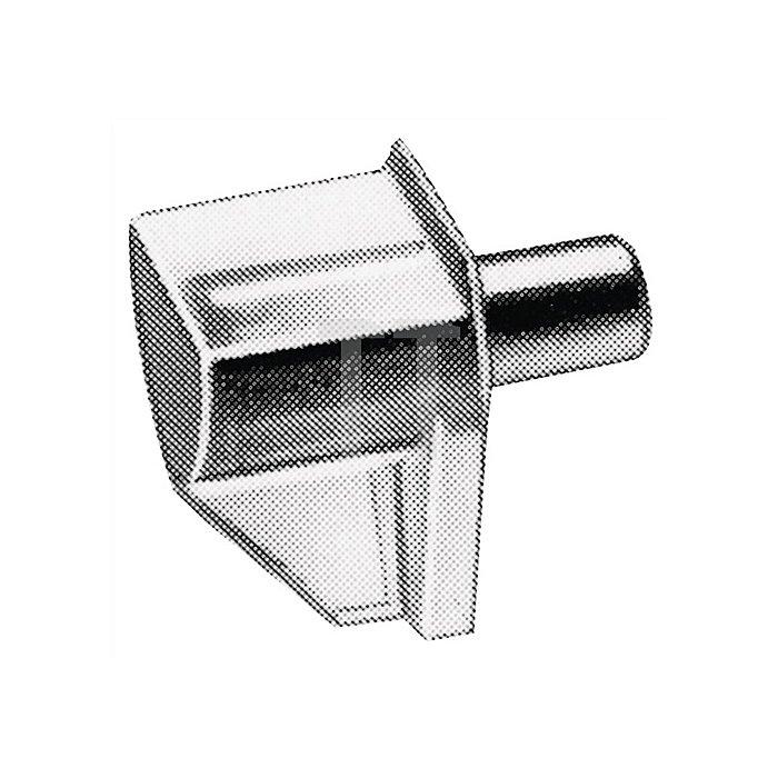 Bodenträger Safety / 025091 für 5mm Lochreihe Stahlstift mit Kunststoffablage